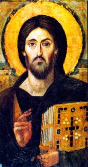 Christ Pantocrator - ancient icon of Jesus Christ from the Monastery of St Catherine, Sinai.